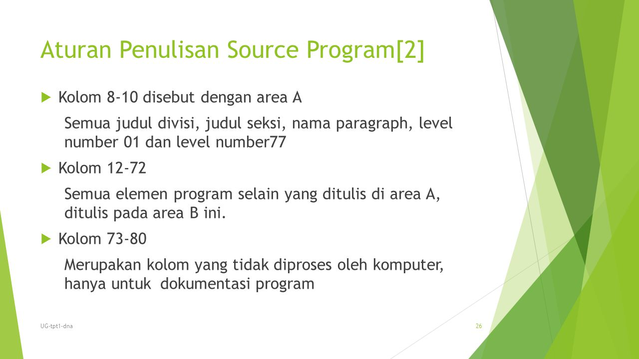 Aturan Penulisan Source Program[2]